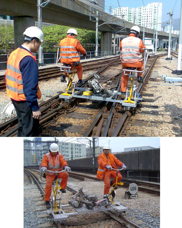 VRP-2 RAIL BICYCLE FOR TRACK INSPECTION