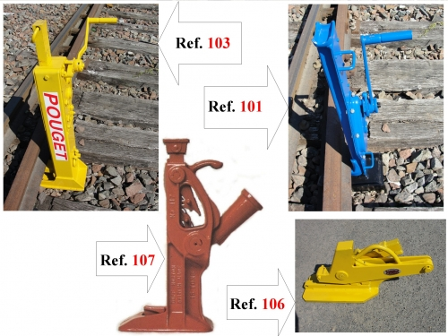MECHANICAL RAIL-LIFTING JACKS