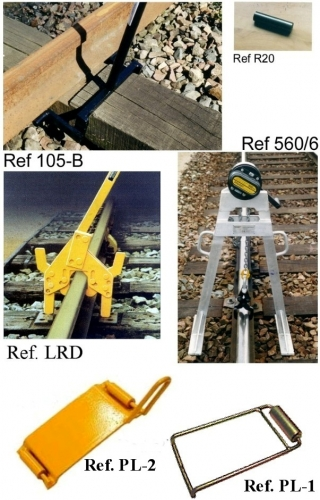 LEVERS FOR LAYING ROLLS AND RUBBER-SHOE UNDER RAILS
