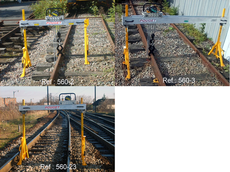 LIGHTWEIGHT GANTRY CRANES FOR RENEWAL OF RAILS